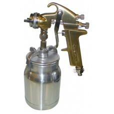 WELLMADE W7002-S 1.8mm Gold Suction Feed Spray Gun and 1l Bowl